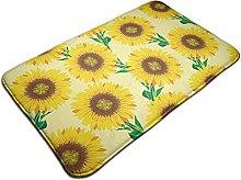 Sunflower Pattern Background Design Bath Mat