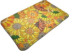 Sunflower Pattern Clipart Collection Bath Mat Door