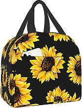 Sunflower Portable Lunch Bag Insulated Cooler Bag