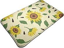 Sunflower Spring Floral Pattern Bath Mat Door Mats