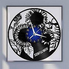 Sunflower theme vinyl record wall clock wall clock