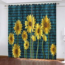 Sunflower Thermal Blackout Curtain, 183 (W) x 214