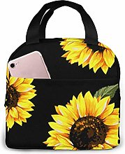 Sunflower Yellow Floral Lunch Bag Tote Bag Lunch