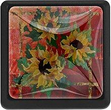 Sunflowers Art Painting, 3 Pcs Crystal Class
