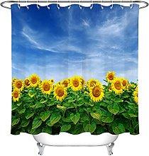 Sunflowers Field Theme Polyester Waterproof Fabric