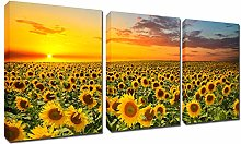 Sunflowers Painting Wall Art Canvas - Sunshine 3