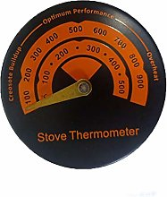 SUNJULY Fireplace Stove Thermometer, Magnetic