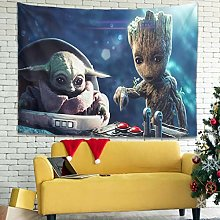 Sunlitrend Baby Groot And Yo-da Wall Hanging