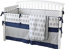 Sunny Bunny 7 Pieces Set Elephant Crib Bedding