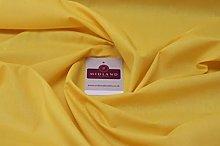 Sunny Yellow PolyCotton Fabric - Dress Craft 44