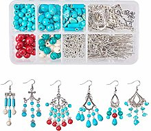 SUNNYCLUE 1 Box 330pcs Turquoise Chandelier