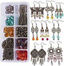 SUNNYCLUE 1 Box 8 Pairs Vintage Earrings Set DIY