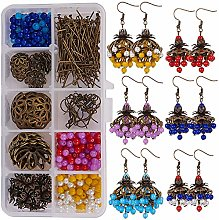 SUNNYCLUE 1 Box DIY 6 Pairs Chandelier Earrings