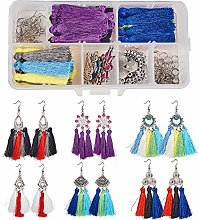 SUNNYCLUE 1 Box DIY 6 Pairs Chandelier Tassel