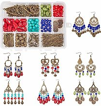 SUNNYCLUE 1 Box DIY 7 pairs Chandelier Earrings