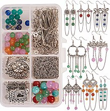 SUNNYCLUE 1 Box DIY 8 Pairs Chandelier Earring