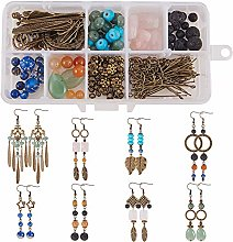 SUNNYCLUE 1 Box DIY 8 Pairs Chandelier Gemstone