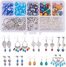 SUNNYCLUE 1 Set DIY 10 Pairs Chandelier Earrings