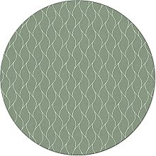 SunnyM Round Area Rugs Abstract Sea Wave Lines