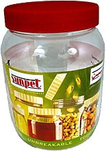 Sunpet 1000ml Red Top Plastic Food Kitchen Storage