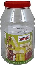 Sunpet 4000ml Red Top Plastic Food Kitchen Storage