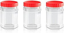 Sunpet Food Storage Canisters, Plastic, Red, 400