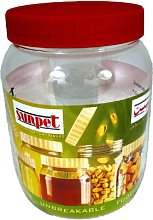 Sunpet Food Storage Canisters, Plastic, Red, 6000
