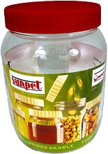 Sunpet Large Red Top Plastic Food Storage Canister