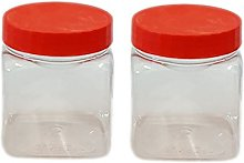 Sunpet Small Plastic Food Storage Canisters, Red,