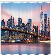 Sunrise at Brooklyn Bridge High-definition printed