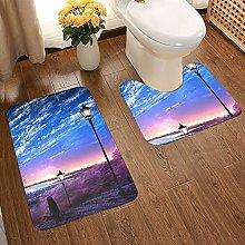 Sunset Glow Soft Flannel Floor Mats Carpets