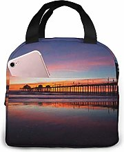Sunset Reusable Lunch Bag Insulated Lunch Tote