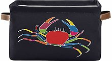 SunsetTrip Abstract Art Colorful Crab Storage