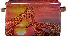 SunsetTrip African Giraffe Sunset Animal Storage