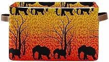 SunsetTrip Animal Elephant Leopard Print Storage