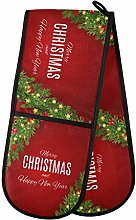 SunsetTrip Christmas Bell Tree Double Oven Glove