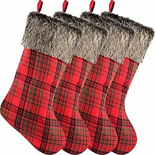 Sunshane 4 Pieces Christmas Stockings 18 Inch Xmas
