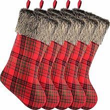 Sunshane 5 Pieces Christmas Stockings 18 Inch Xmas