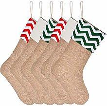Sunshane Burlap Christmas Stockings Xmas Fireplace