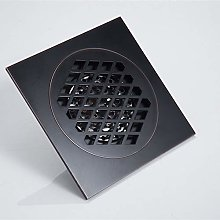 SUNSHIN Floor Drain Black 15×15 cm Super Bigger