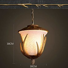 SUNSHIN Glass Vintage Pendant Light Hanging