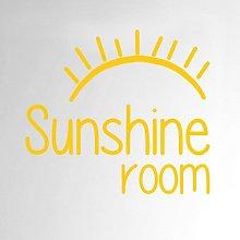 Sunshine Room Door Wall Sticker Happy Larry