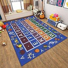 SUNYRYSE Blue Animal Play Mat Alphabet Foam Mats
