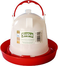 Supa Poultry Drinker (1.5l) (White/Red)