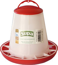 Supa Poultry Feeder (3kg) (White/Red)