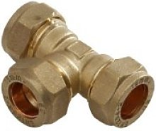 SupaPlumb Pack of 5 Plumbing Compression Tee - 15mm