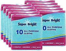 Super Bright 100 multi purpose cleaning cloths, j