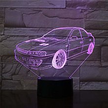 Super Car Table Lamp 7 Colors Changing Desk Lamp