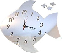 Super Cool Creations Fish Clock Acrylic Mirror