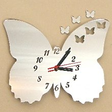 Super Cool Creations Frilly Butterfly Clock mirror